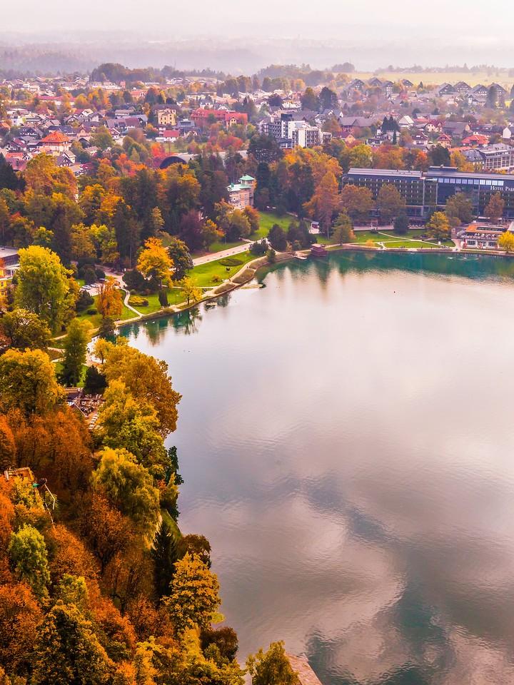 斯洛文尼亚布莱德湖(Lake Bled),清晨湖色_图1-21