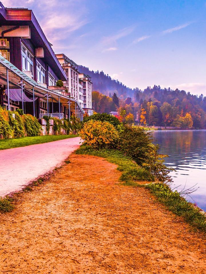 斯洛文尼亚布莱德湖(Lake Bled),清晨湖色_图1-28