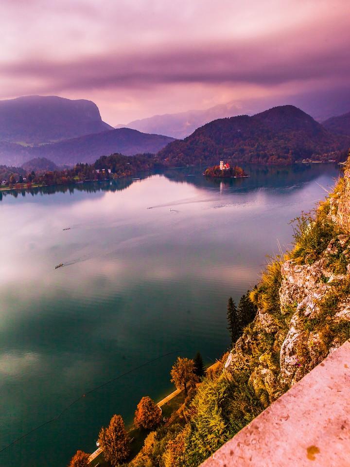 斯洛文尼亚布莱德湖(Lake Bled),清晨湖色_图1-25