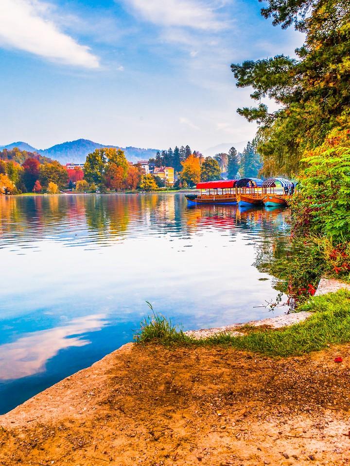 斯洛文尼亚布莱德湖(Lake Bled),清晨湖色_图1-23