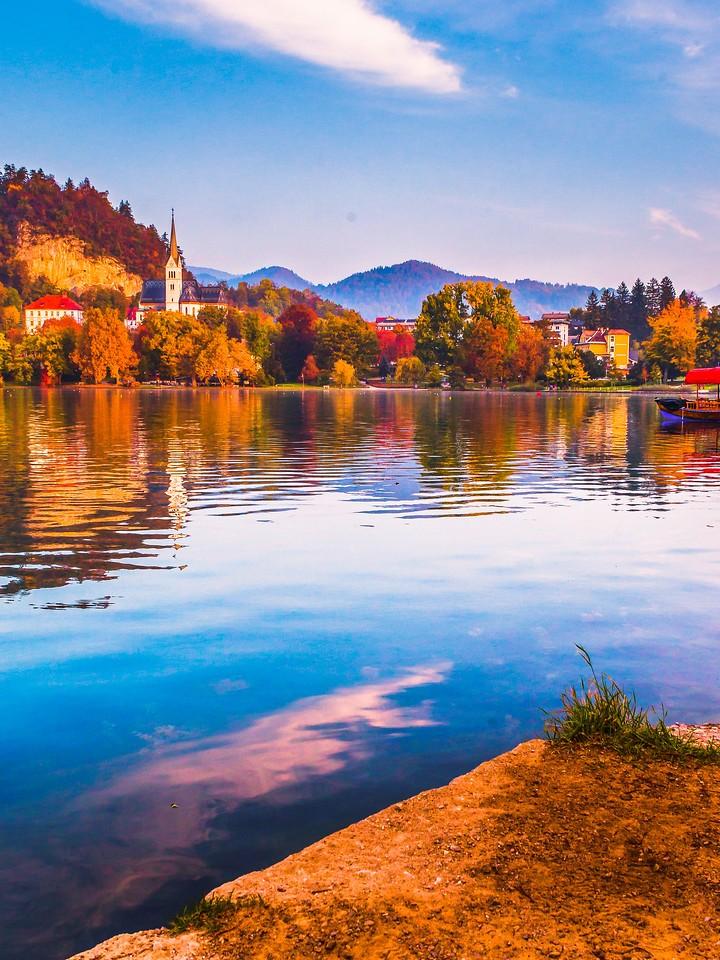 斯洛文尼亚布莱德湖(Lake Bled),清晨湖色_图1-27