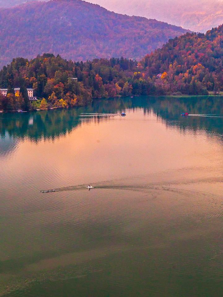 斯洛文尼亚布莱德湖(Lake Bled),清晨湖色_图1-24