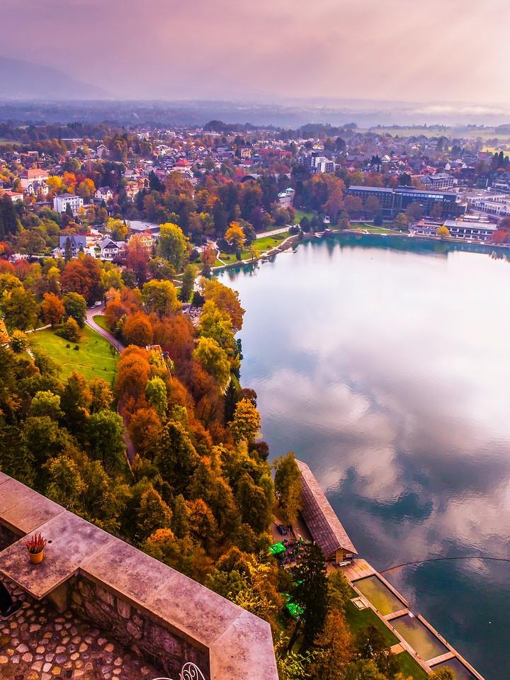 斯洛文尼亚布莱德湖(Lake Bled),清晨湖色_图1-34