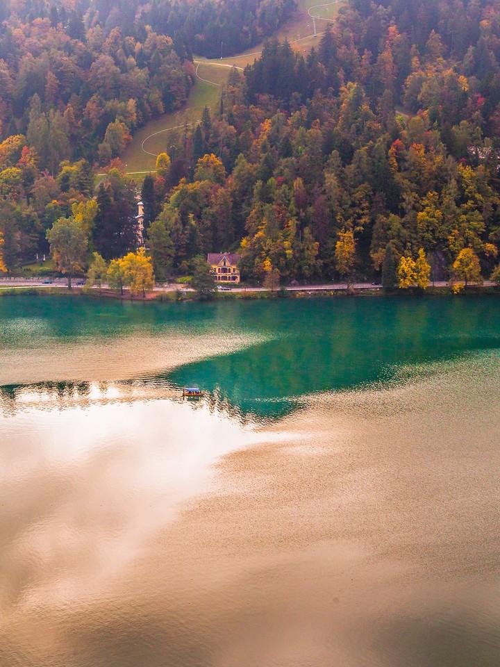 斯洛文尼亚布莱德湖(Lake Bled),清晨湖色_图1-31