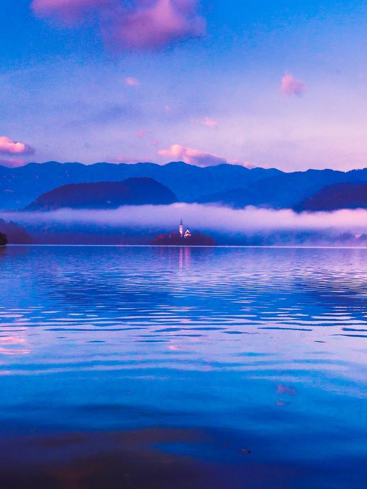 斯洛文尼亚布莱德湖(Lake Bled),清晨湖色_图1-32
