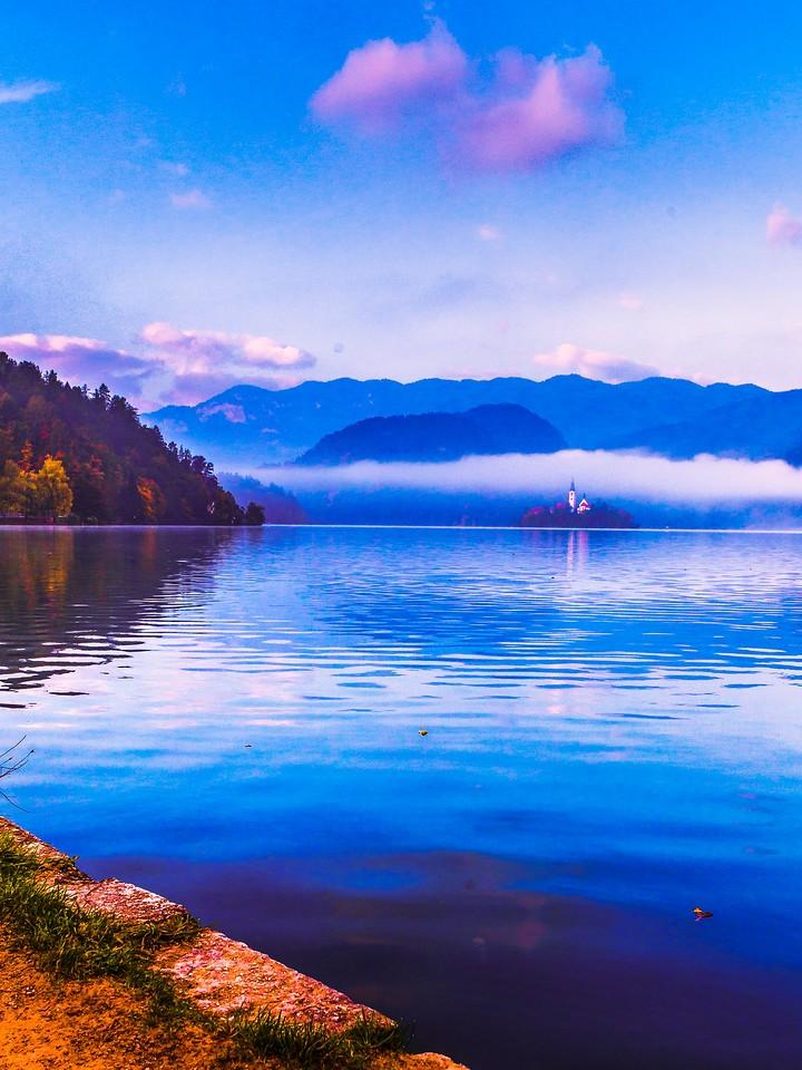 斯洛文尼亚布莱德湖(Lake Bled),清晨湖色_图1-36