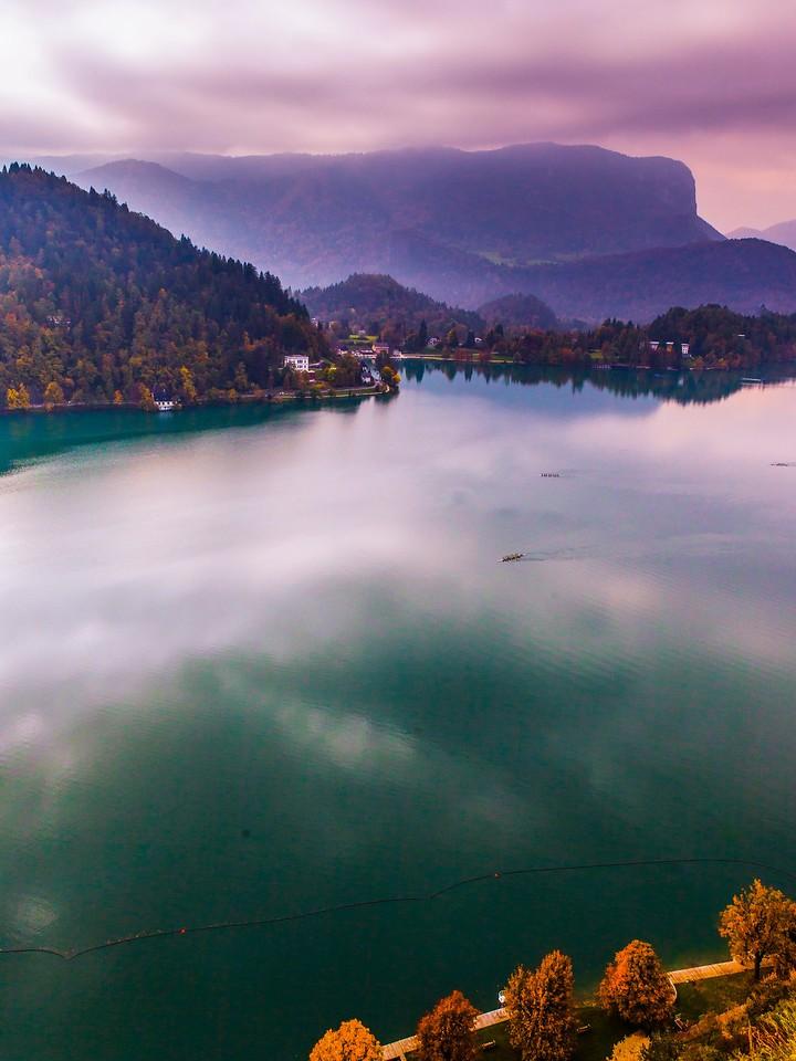 斯洛文尼亚布莱德湖(Lake Bled),清晨湖色_图1-39