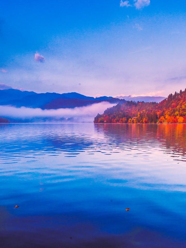 斯洛文尼亚布莱德湖(Lake Bled),清晨湖色_图1-38