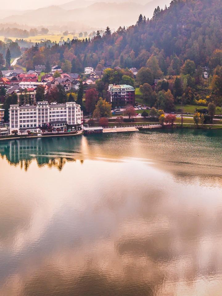 斯洛文尼亚布莱德湖(Lake Bled),清晨湖色_图1-37