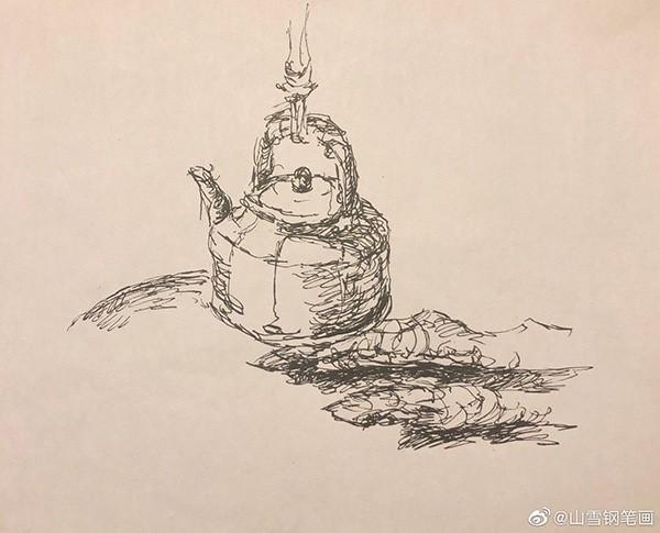 山雪钢笔速写——2020年1月至5月随手采撷_图1-54