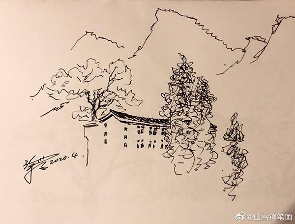 山雪钢笔速写——2020年1月至5月随手采撷_图1-41