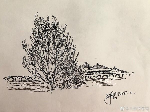 山雪钢笔速写——2020年1月至5月随手采撷_图1-26