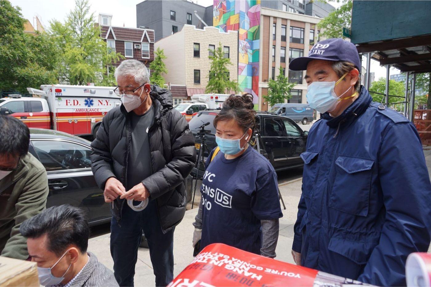 紐約華人僑團及企業家獻愛心捐贈防護物资給市消防局协助抗擊COVID-19疫情 ... ... ... ..._图1-4