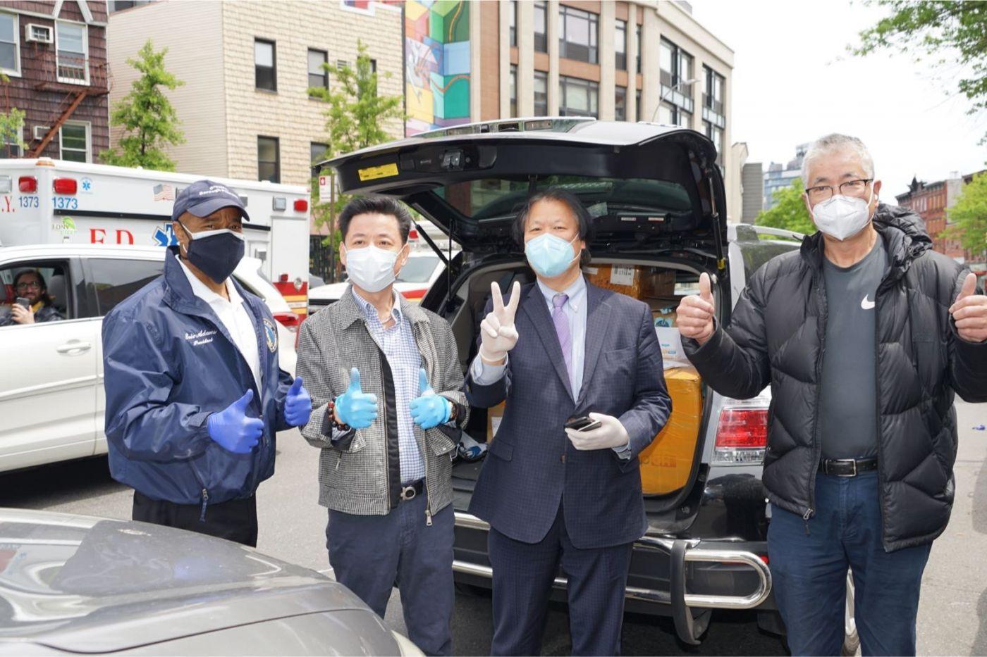 紐約華人僑團及企業家獻愛心捐贈防護物资給市消防局协助抗擊COVID-19疫情 ... ... ... ..._图1-9