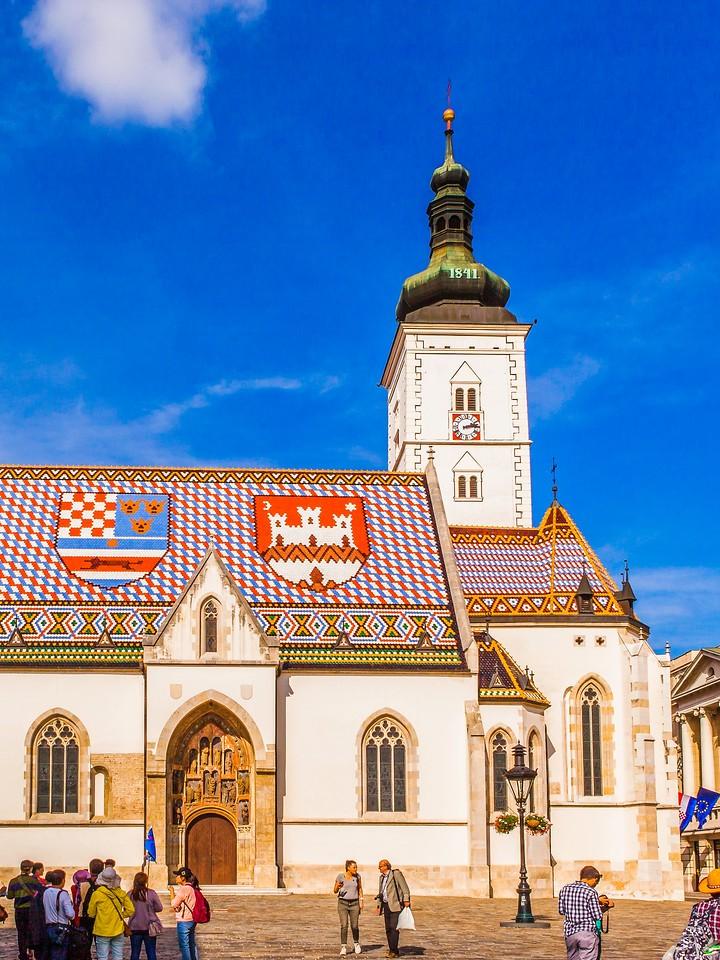 克罗地亚首都萨格勒布(Zagreb),顶的艺术_图1-19