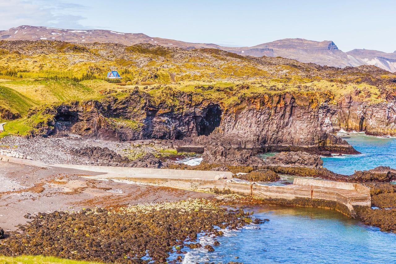 冰岛Arnarstapi,海边的悬崖_图1-3