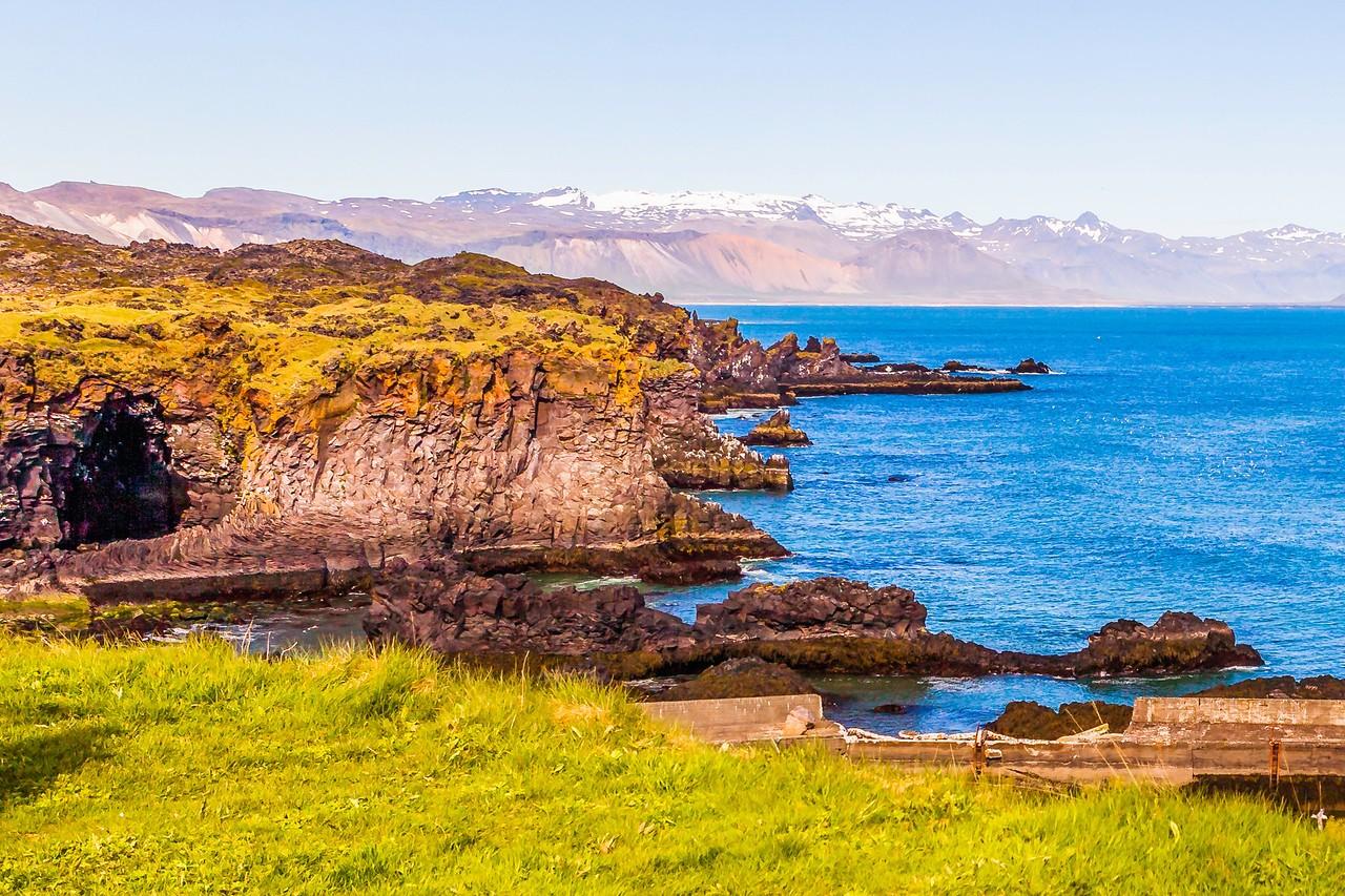 冰岛Arnarstapi,海边的悬崖_图1-4