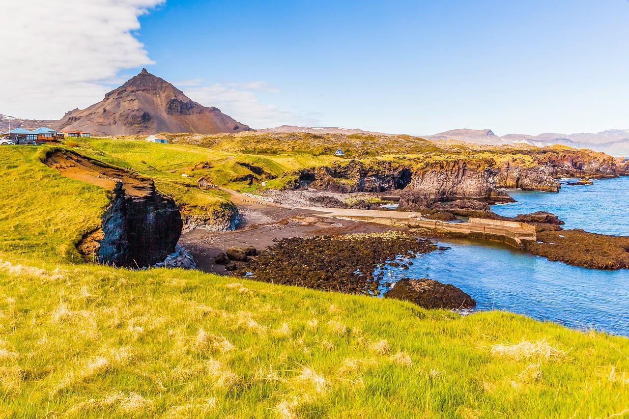 冰岛Arnarstapi,海边的悬崖_图1-5