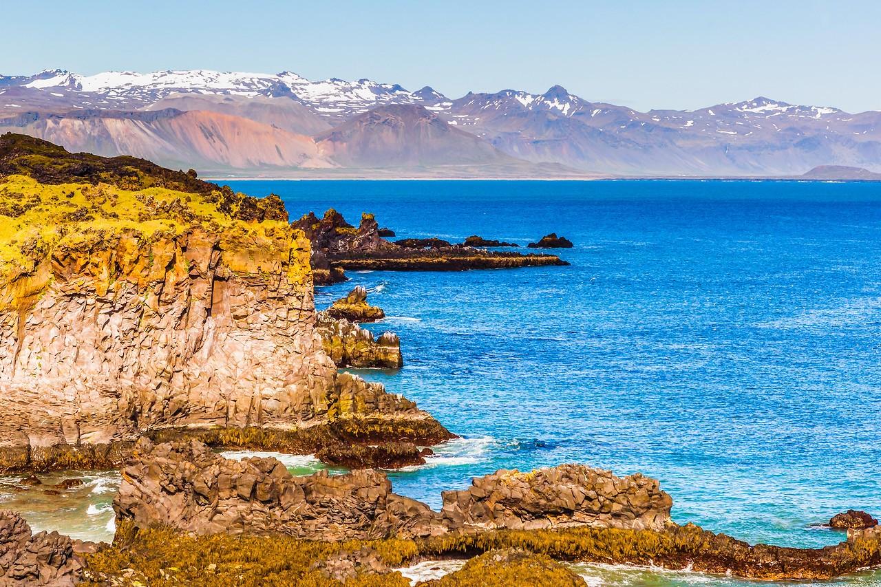冰岛Arnarstapi,海边的悬崖_图1-14