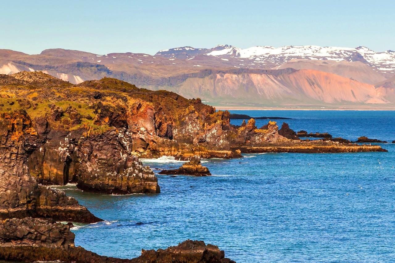 冰岛Arnarstapi,海边的悬崖_图1-23