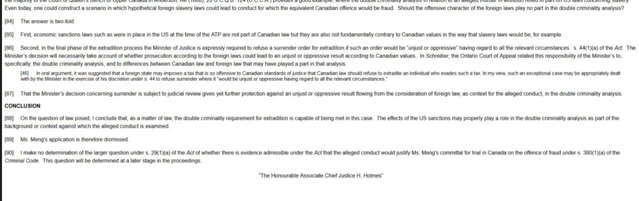加拿大法院判决:孟晚舟败诉_图1-5