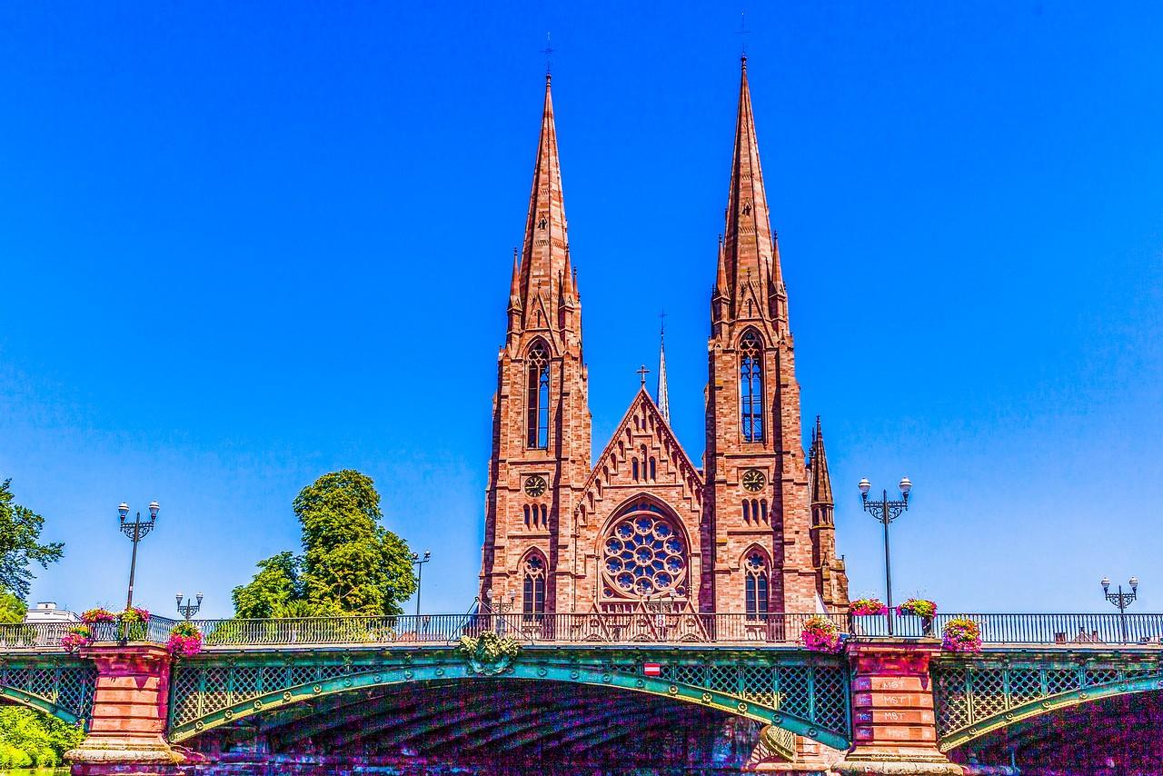 法国斯特拉斯堡(Strasbourg),河边市容_图1-14
