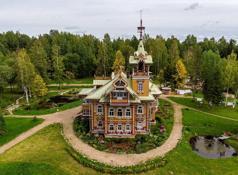 阿斯塔霍沃宫--俄罗斯最美的木制房屋_图1-5