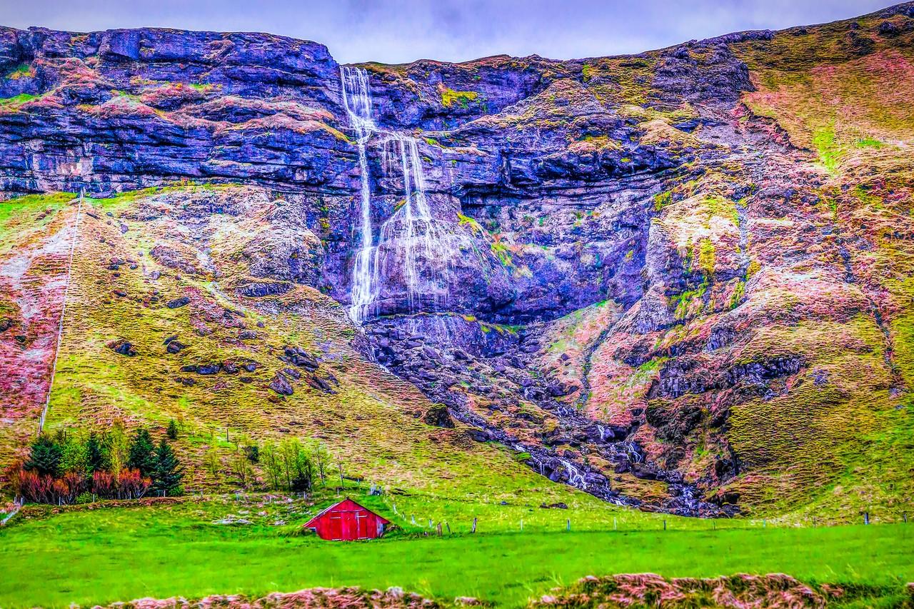 冰岛风采,山壁瀑布_图1-40