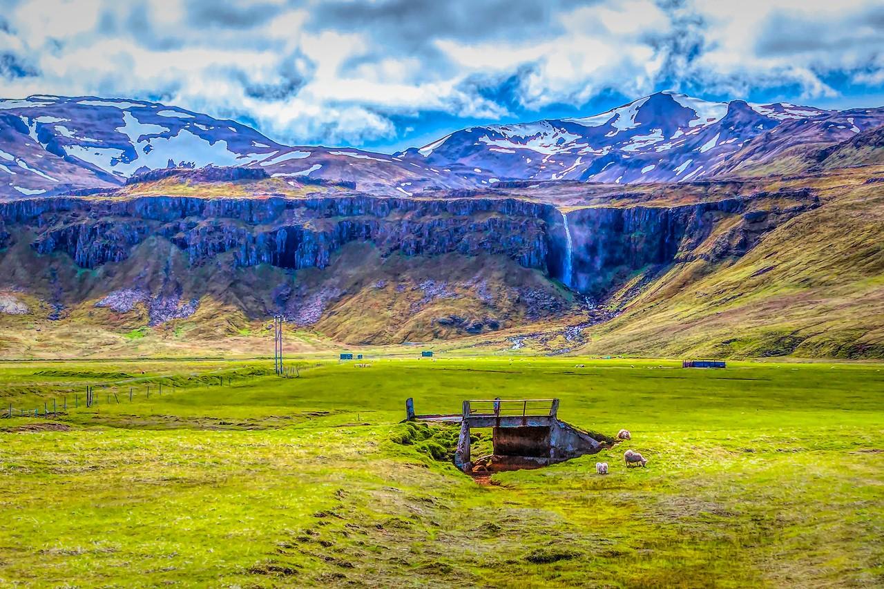冰岛风采,山壁瀑布_图1-39