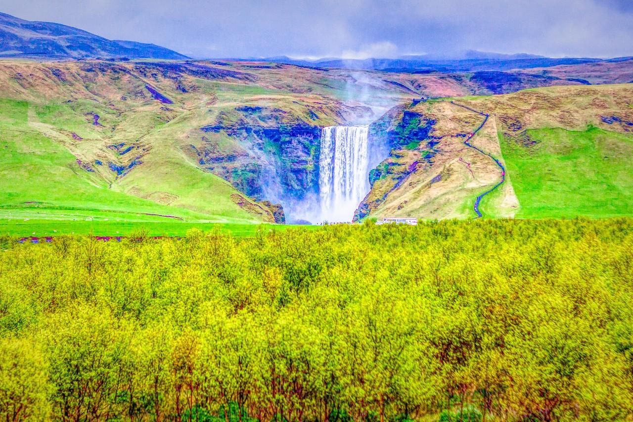 冰岛风采,山壁瀑布_图1-38