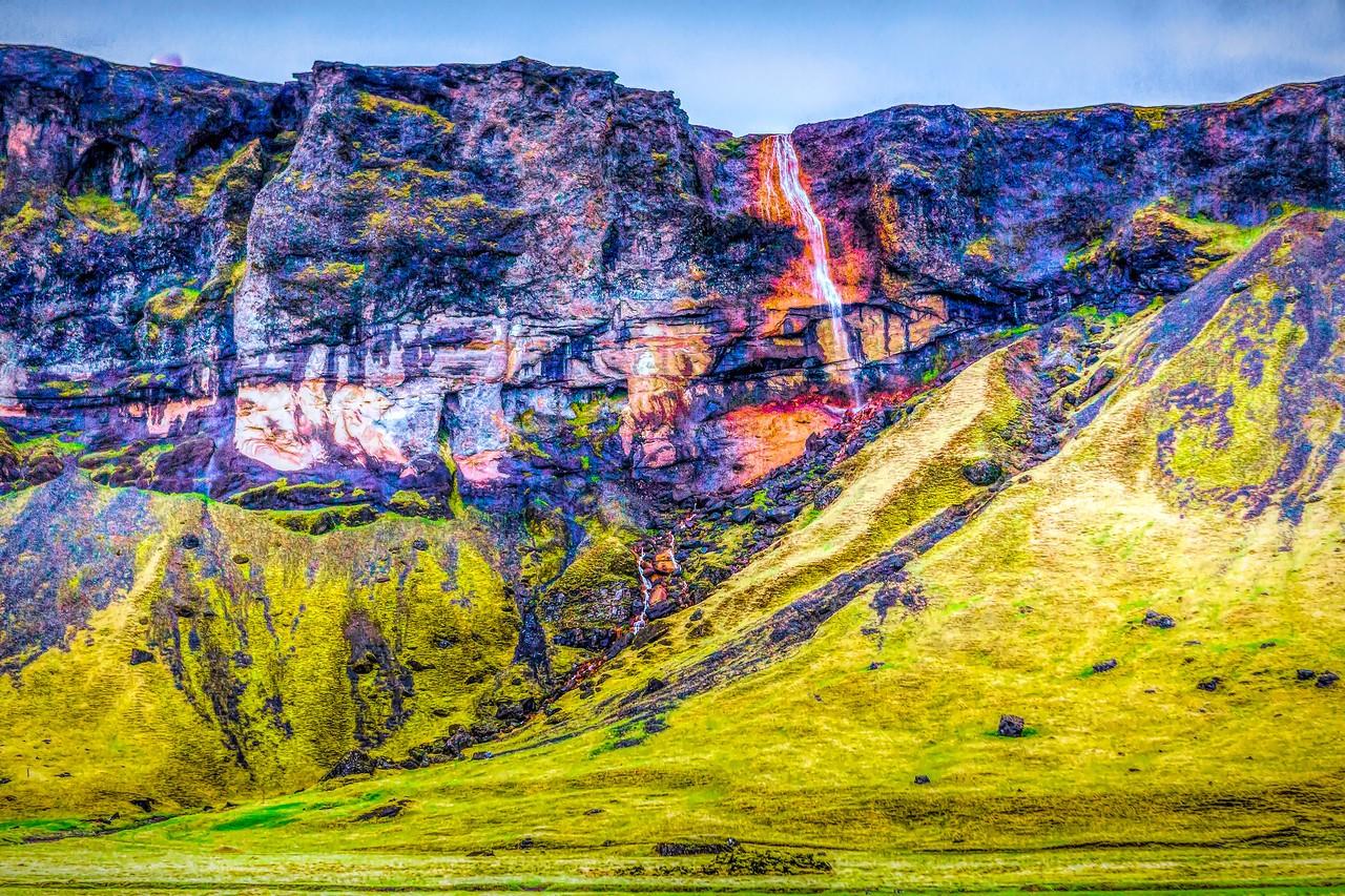 冰岛风采,山壁瀑布_图1-36