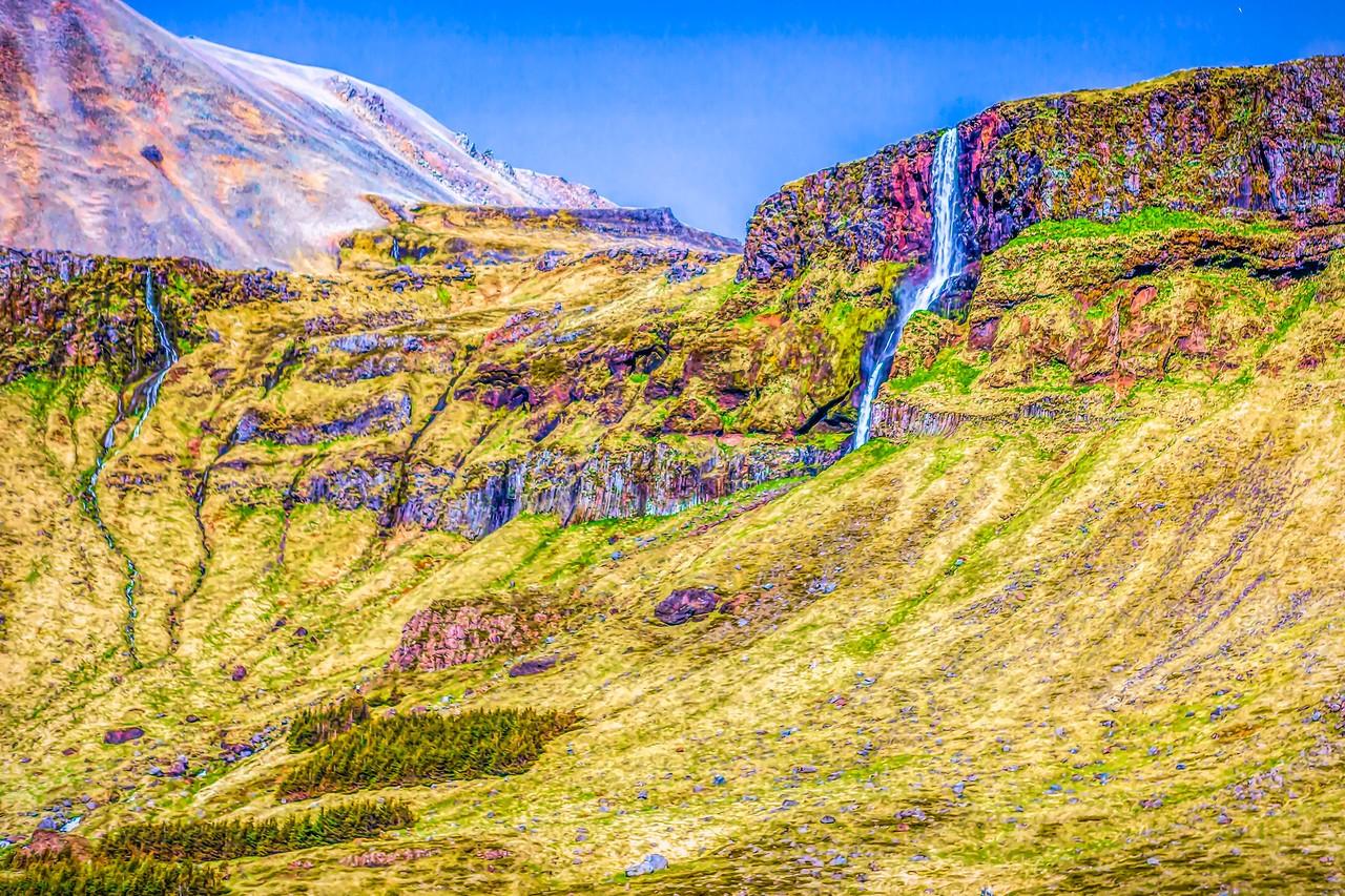 冰岛风采,山壁瀑布_图1-37