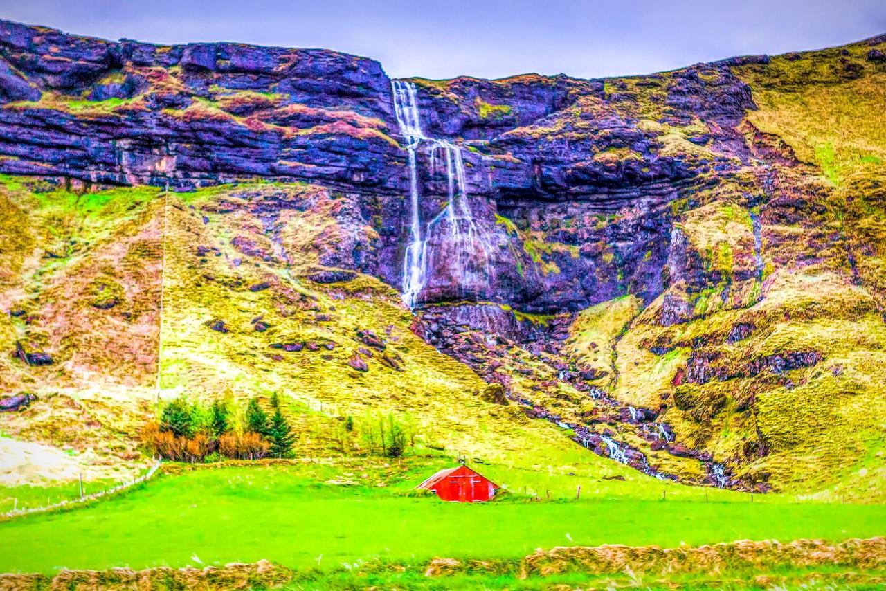 冰岛风采,山壁瀑布_图1-27