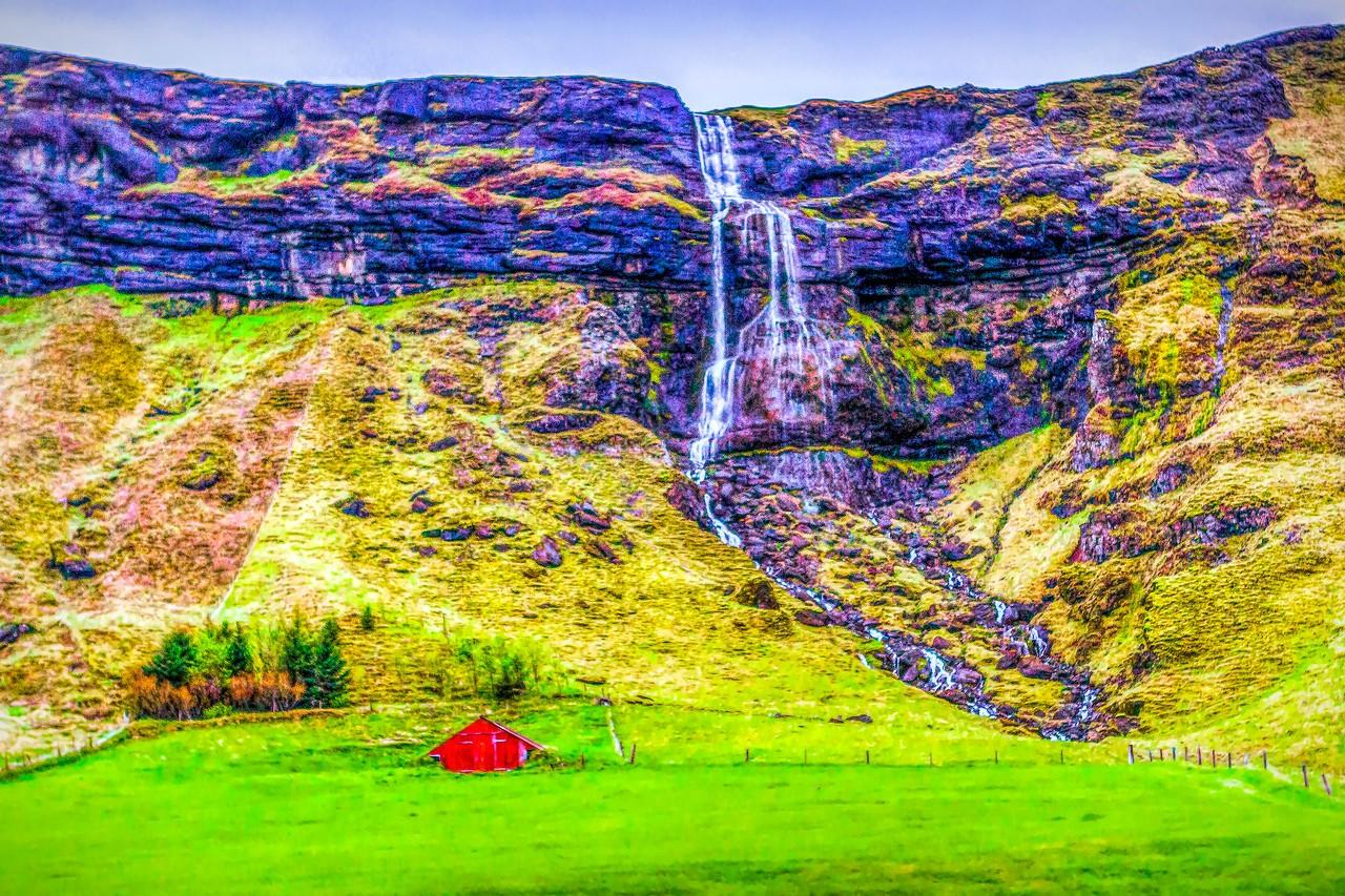 冰岛风采,山壁瀑布_图1-25