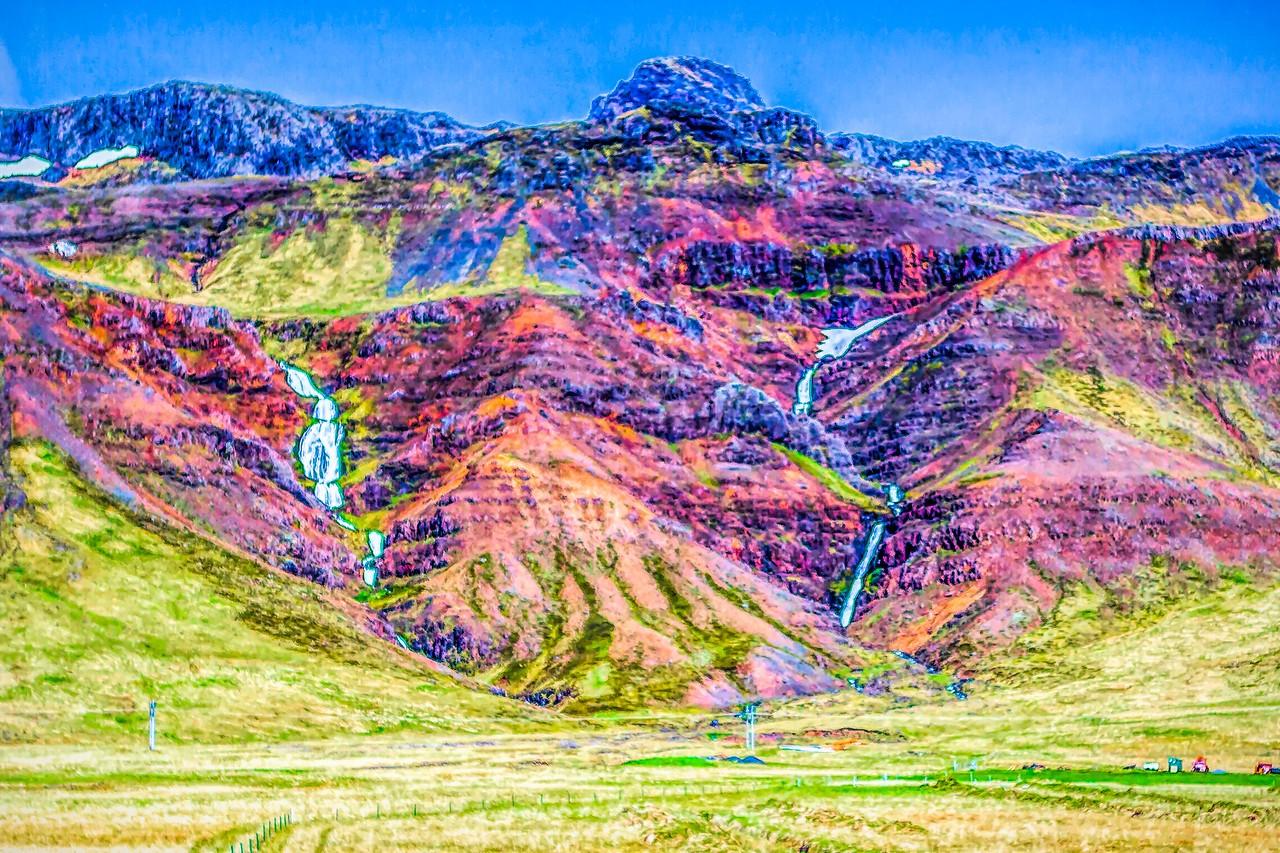 冰岛风采,山壁瀑布_图1-21
