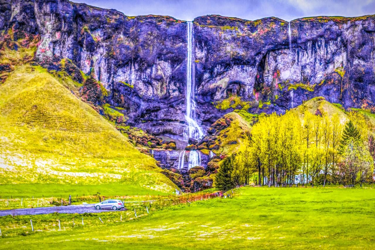 冰岛风采,山壁瀑布_图1-23