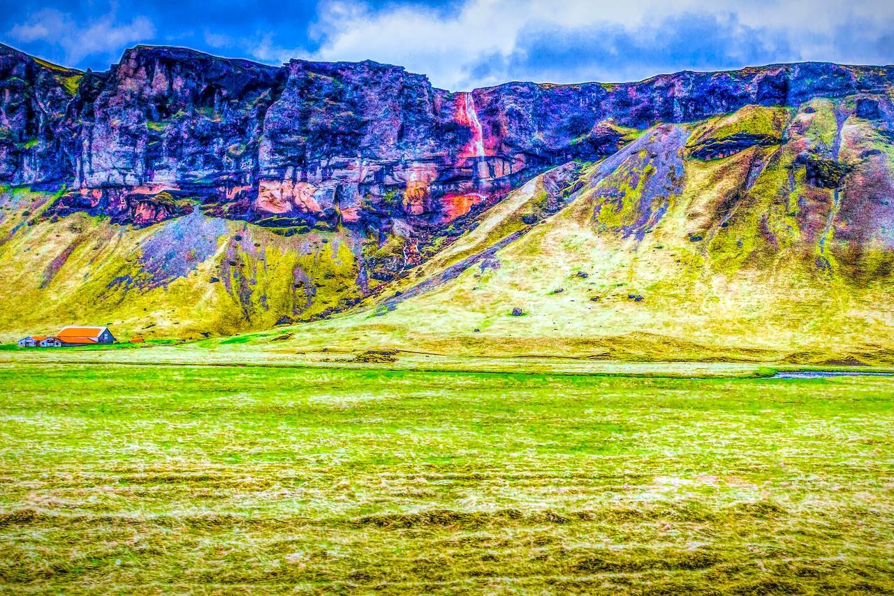 冰岛风采,山壁瀑布_图1-19