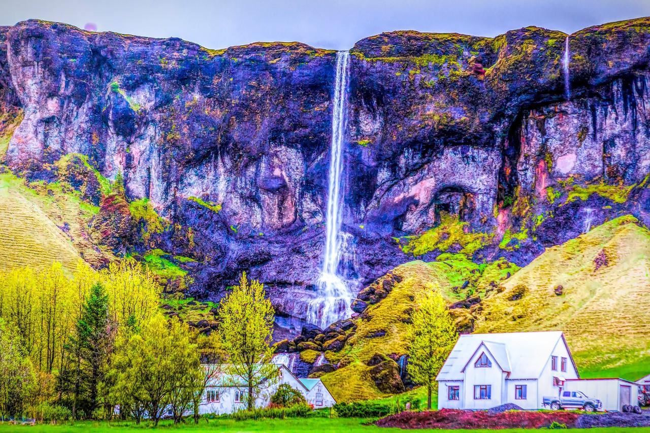 冰岛风采,山壁瀑布_图1-1