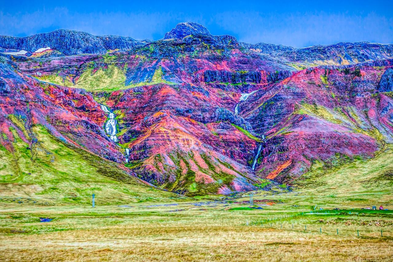 冰岛风采,山壁瀑布_图1-3