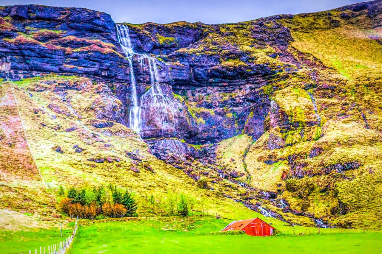 冰岛风采,山壁瀑布_图1-7