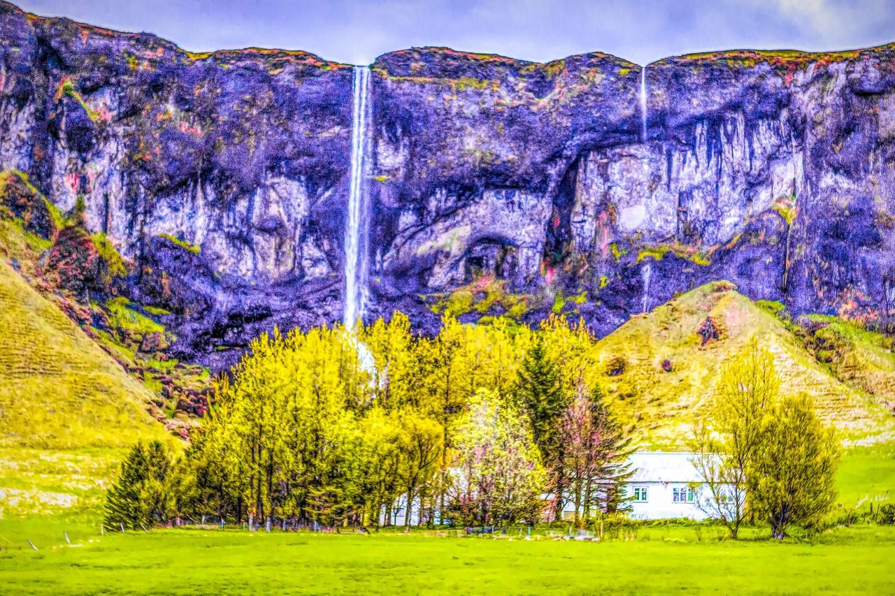 冰岛风采,山壁瀑布_图1-11