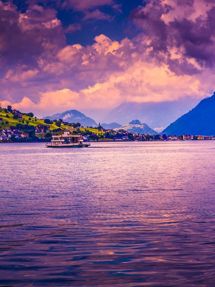 瑞士卢塞恩(Lucerne),浓浓的云彩_图1-22