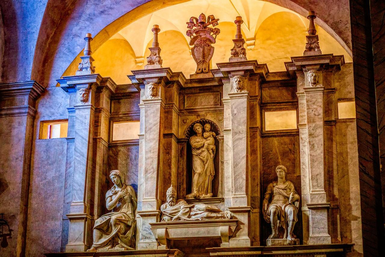 罗马圣伯多禄锁链堂,米开朗基罗杰作摩西雕像_图1-24