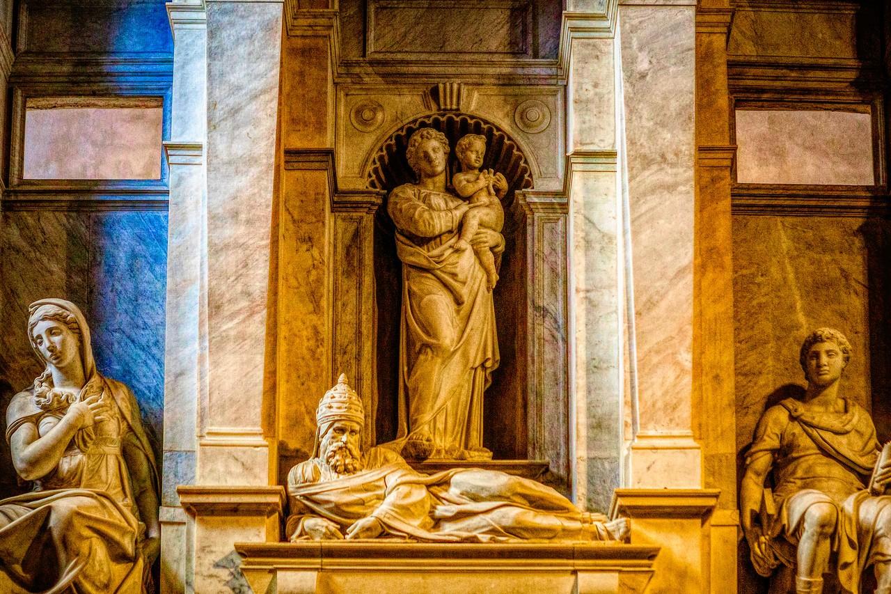 罗马圣伯多禄锁链堂,米开朗基罗杰作摩西雕像_图1-16