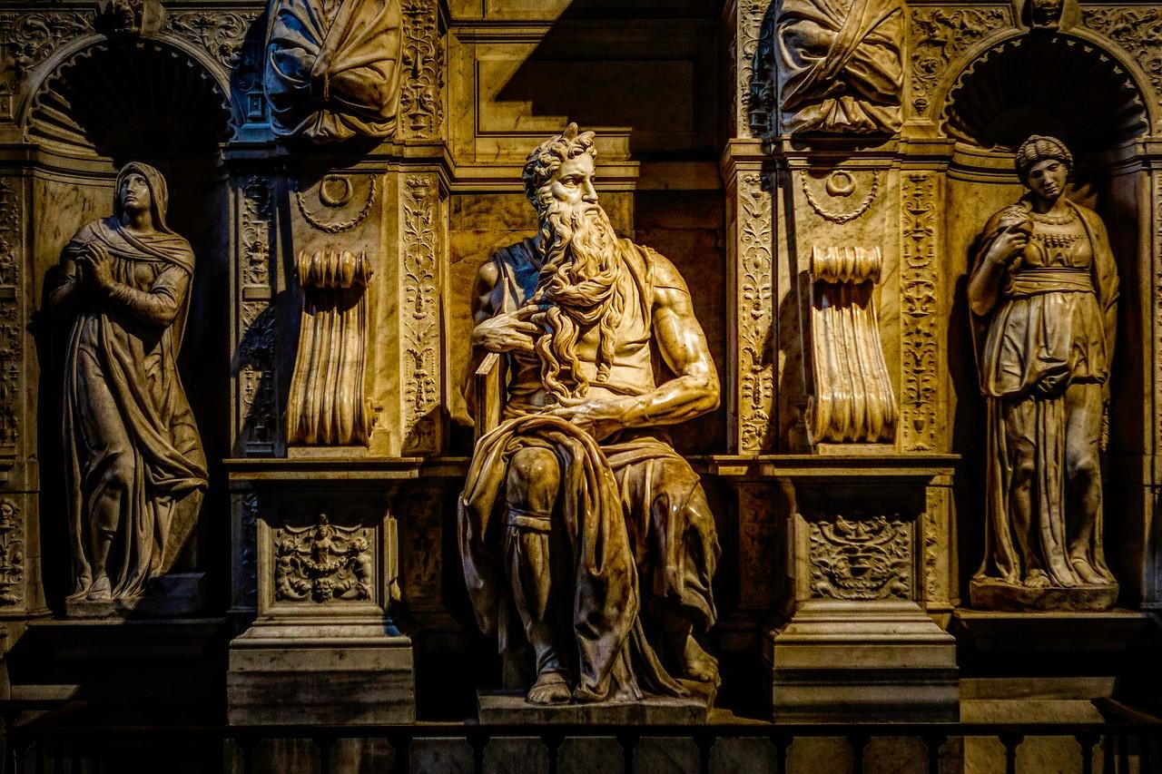 罗马圣伯多禄锁链堂,米开朗基罗杰作摩西雕像_图1-7