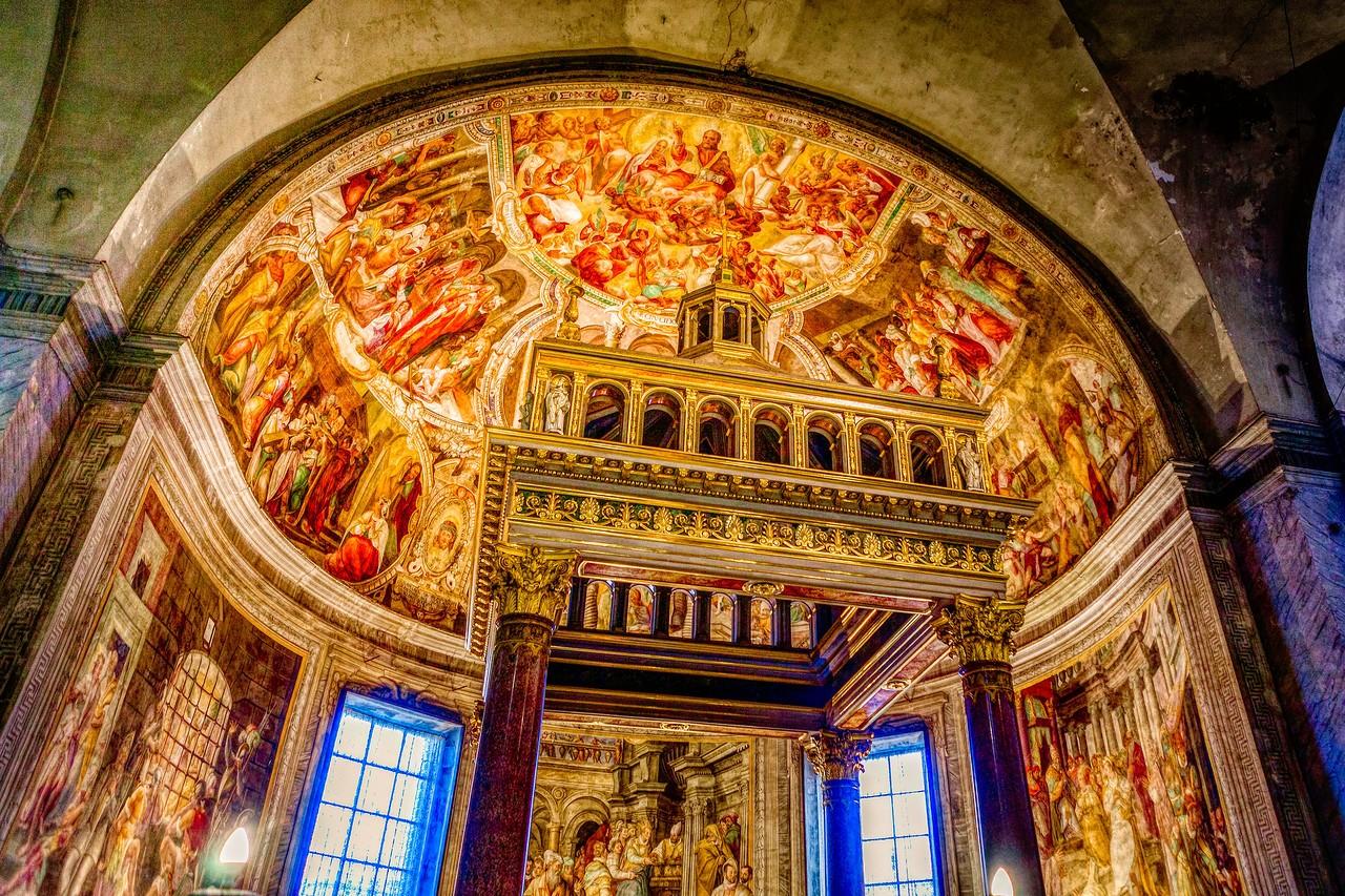 罗马圣伯多禄锁链堂,米开朗基罗杰作摩西雕像_图1-3