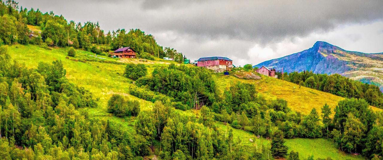 北欧风光,山坡上的家园_图1-31
