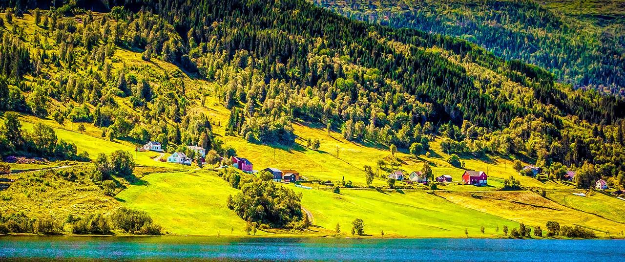 北欧风光,山坡上的家园_图1-16