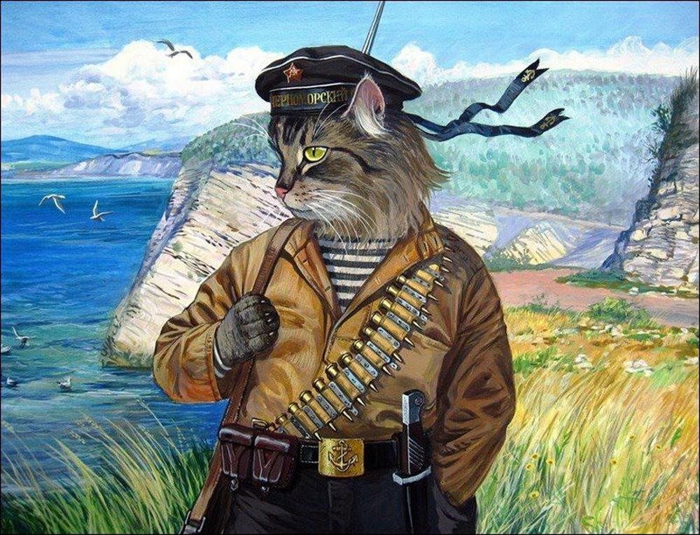 """画家亚历山大.扎瓦利的""""典型猫""""_图1-1"""