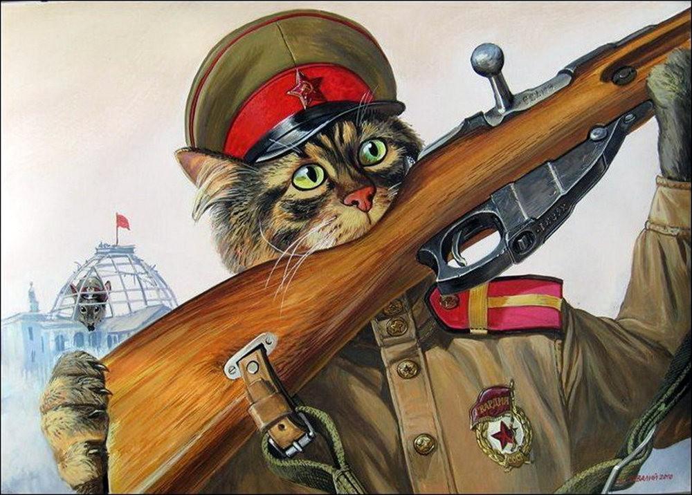 """画家亚历山大.扎瓦利的""""典型猫""""_图1-2"""